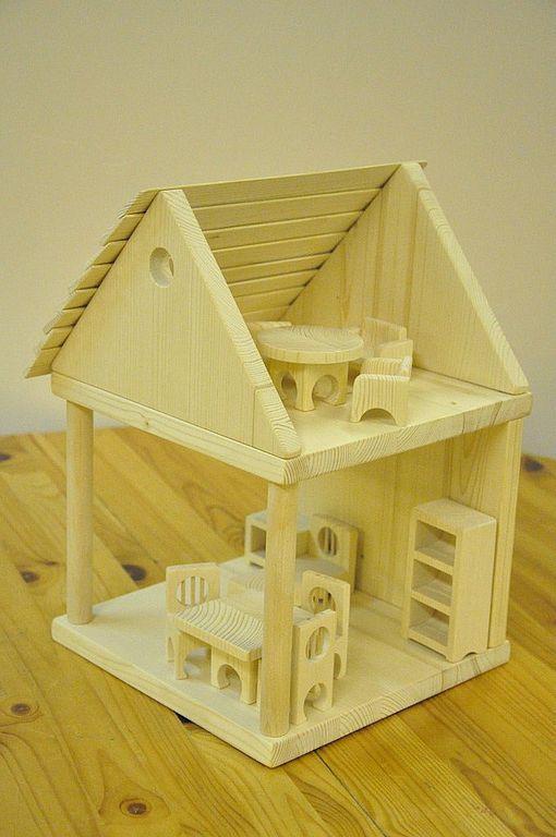 Детский домик для кукол из дерева своими руками 141