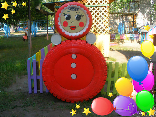 Поделки на участок детского сада свои