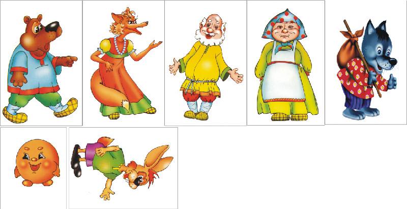 картинки героев колобок сказка