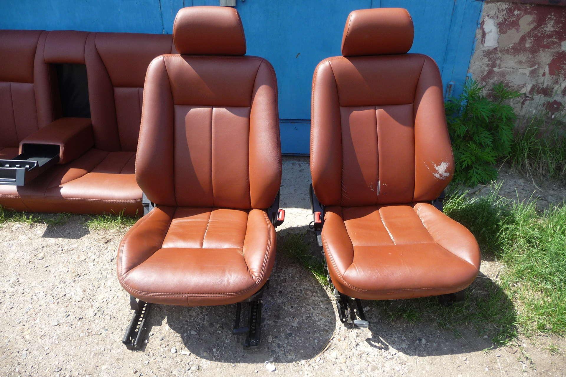 кожаные передние сидения мерседес
