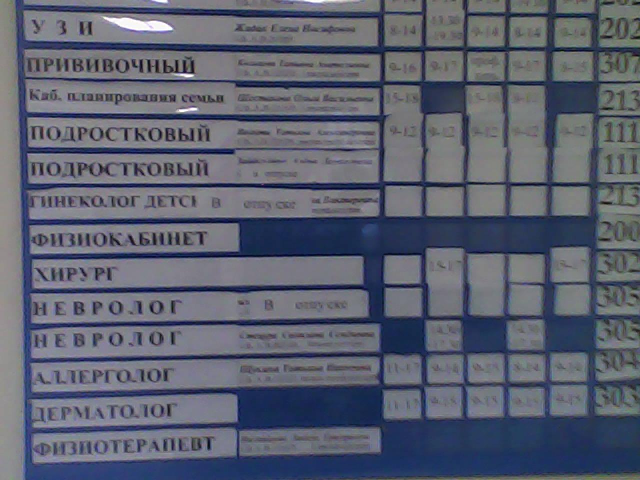 Записаться на прием в детскую поликлинику шадринск