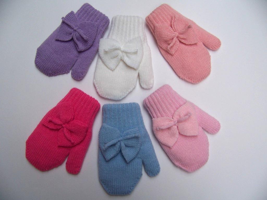 Связать перчатки на ребенка