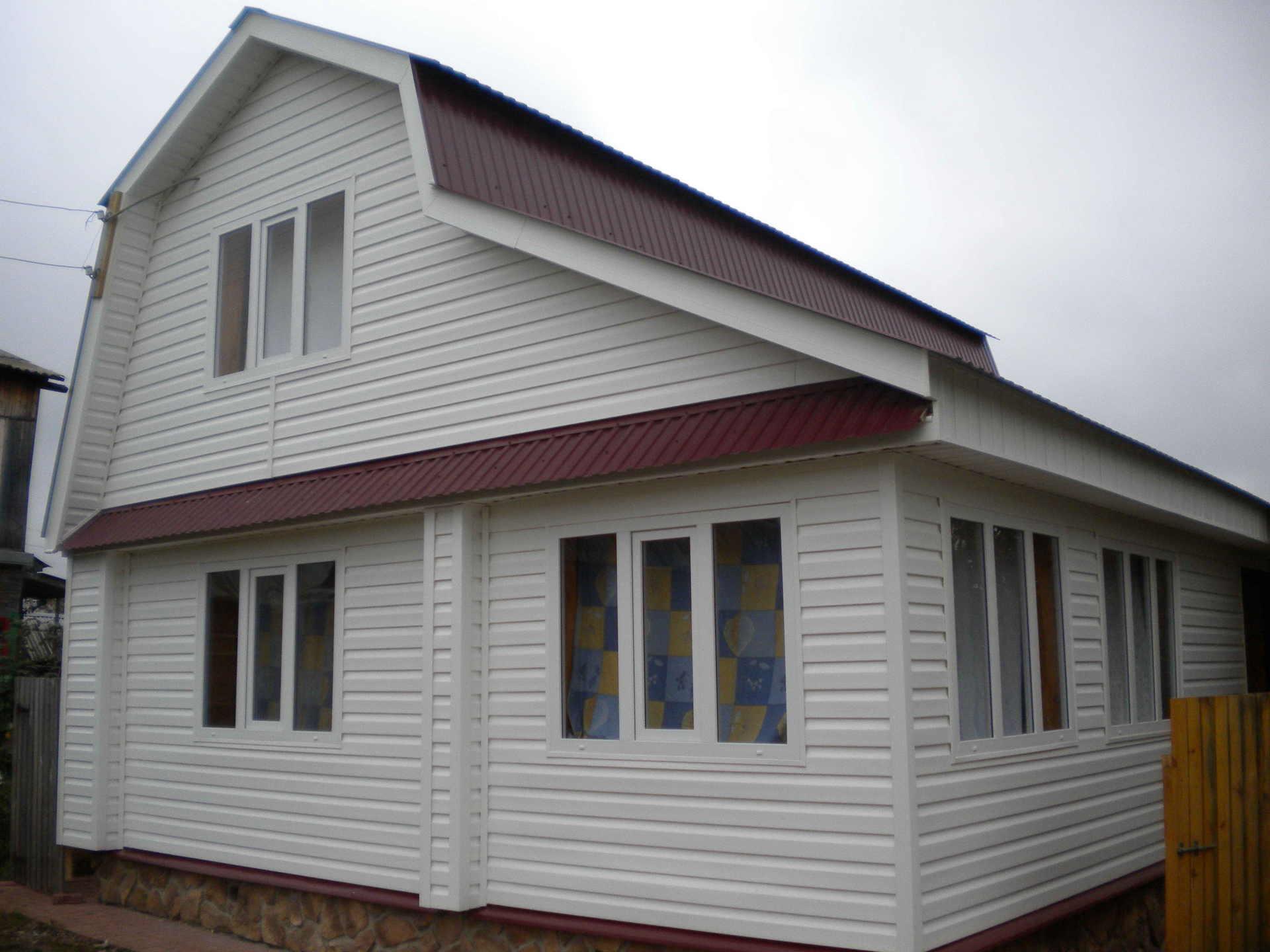 Обшивка деревянного дома профнастилом своими руками видео