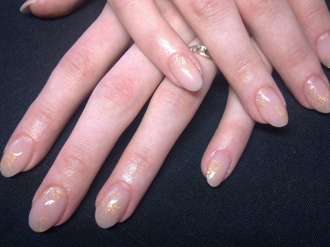 Короткие ногти акрил фото