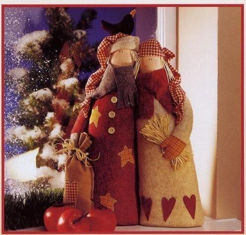 Рождественские тильды своими руками