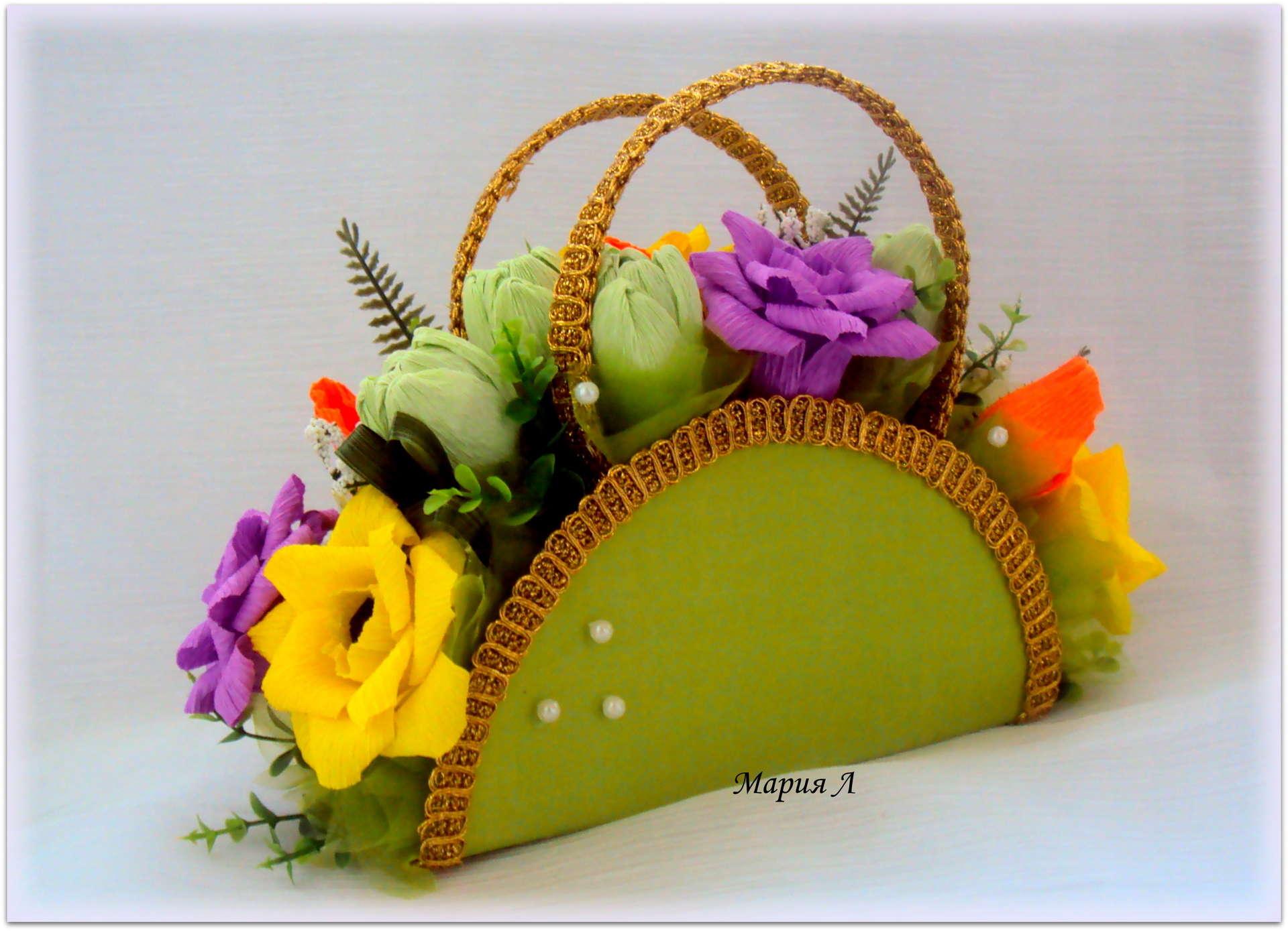 Сумка из цветов фото