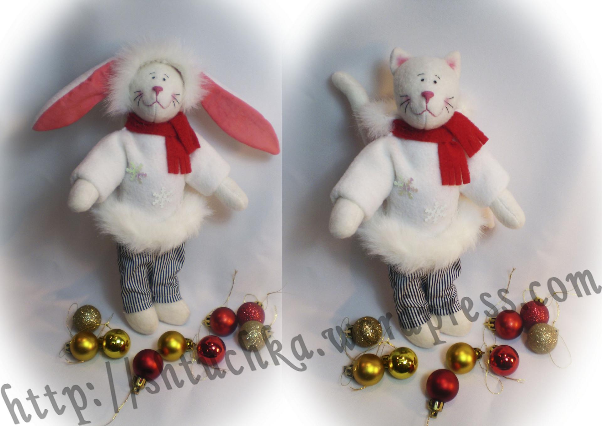 Новогодние игрушки из холодного фарфора своими руками