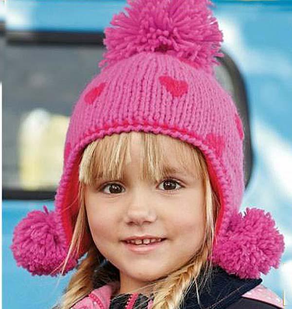 Флиссовые детские шапки