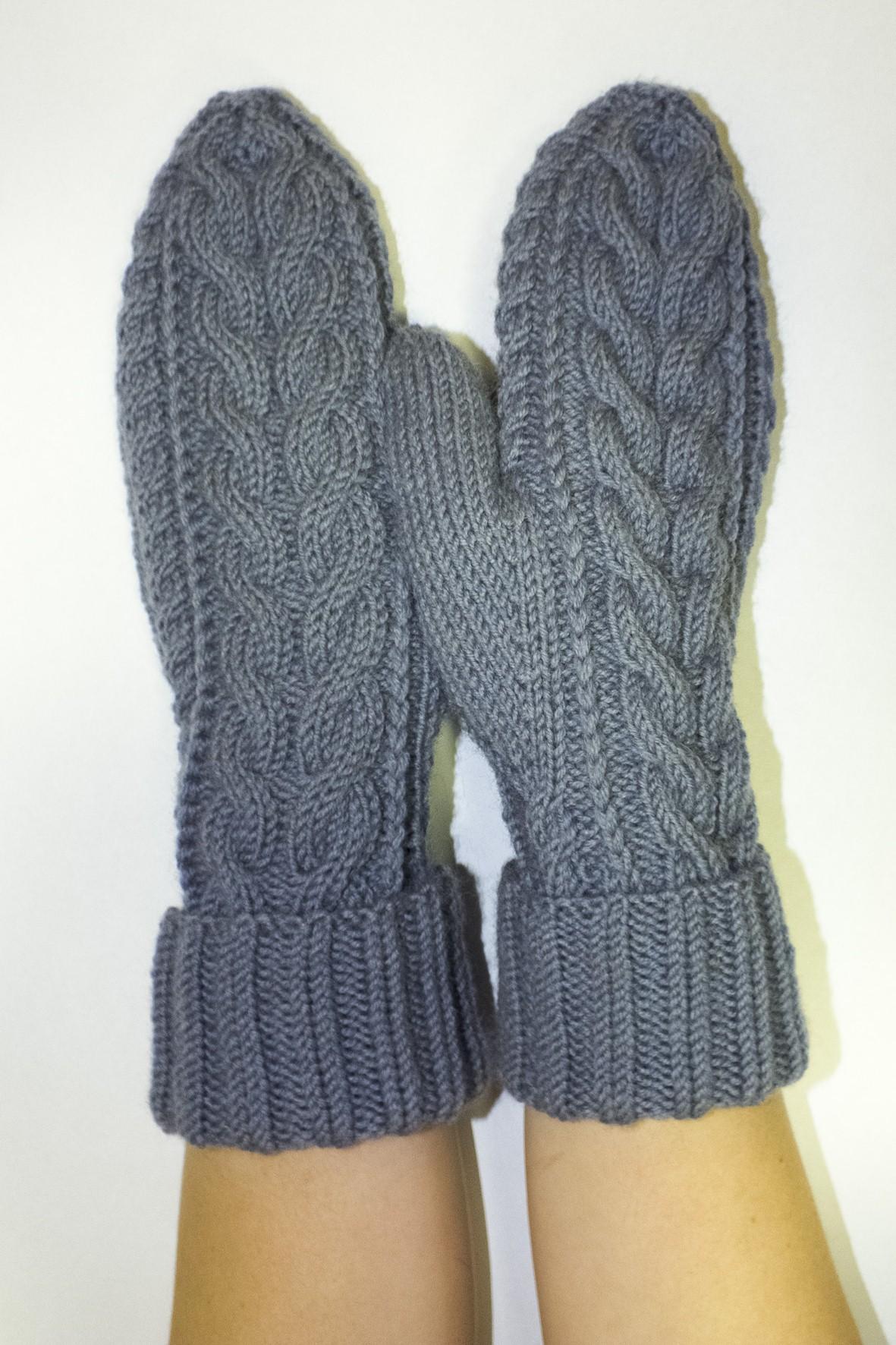 рукавицы с розой схема вязания