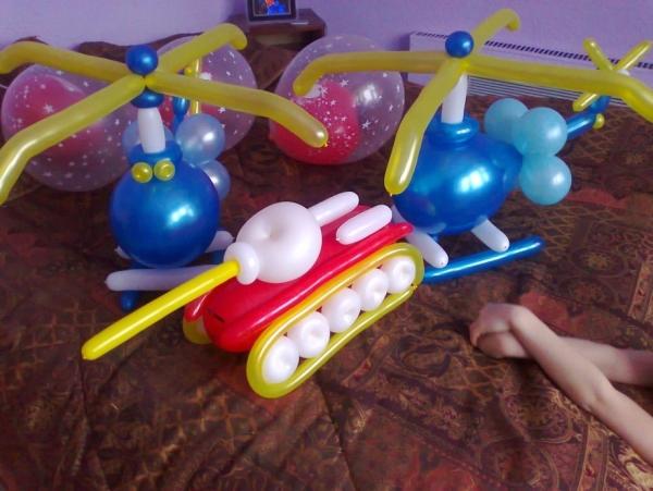 Подарок сделанный из шариков