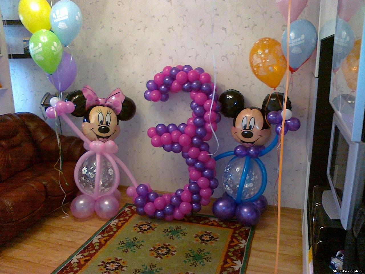 Цифра 3 из шариков на день рождения своими руками