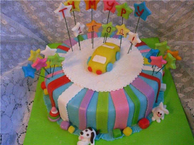 Торт на день рождения для мальчика своими руками