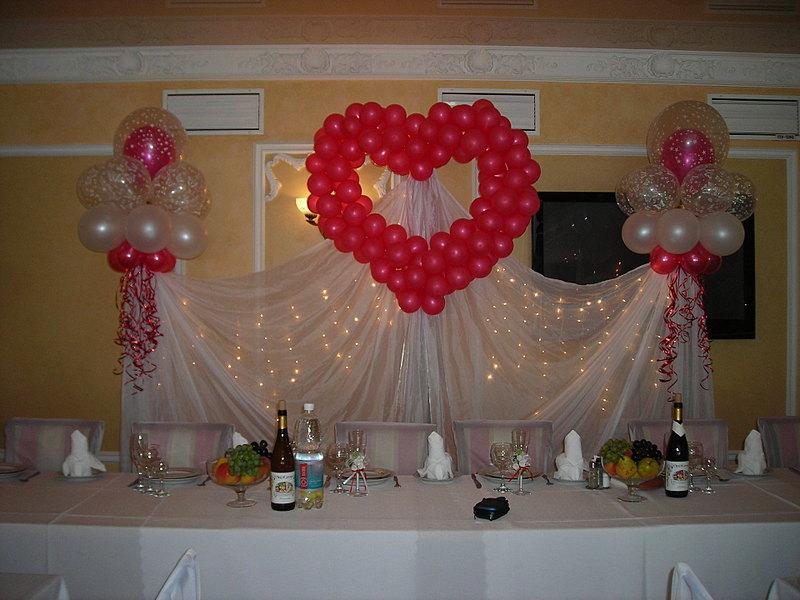 Как украсить банкетный зал для свадьбы своими фото руками 74