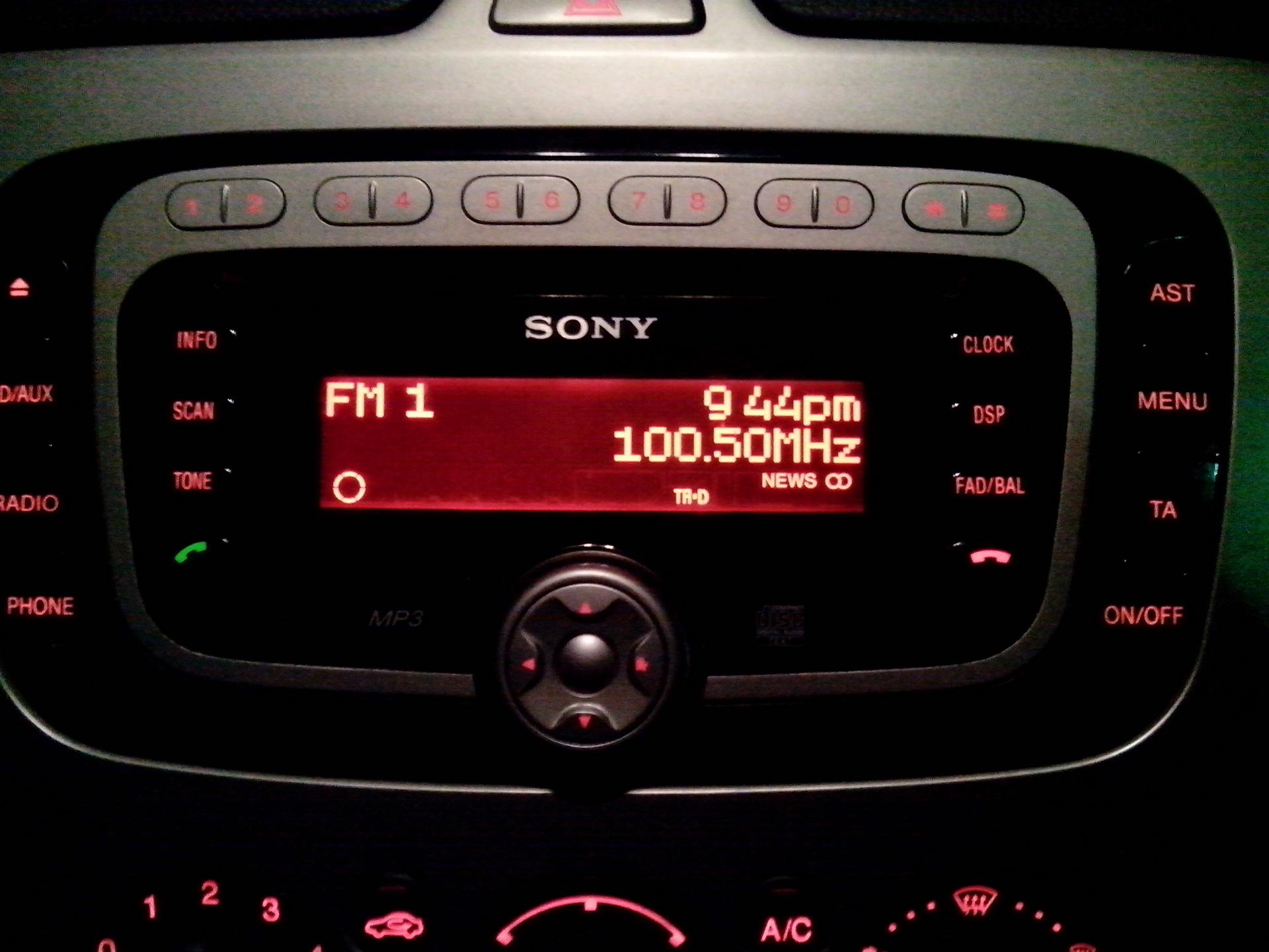 Форд фокус магнитола сони 4
