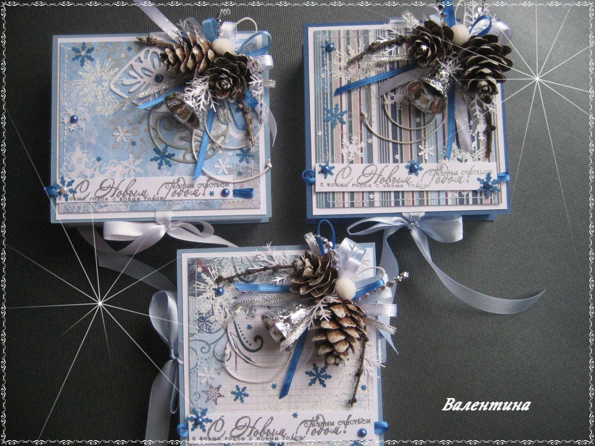 Скрапбукинг открытка с новым годом своими руками