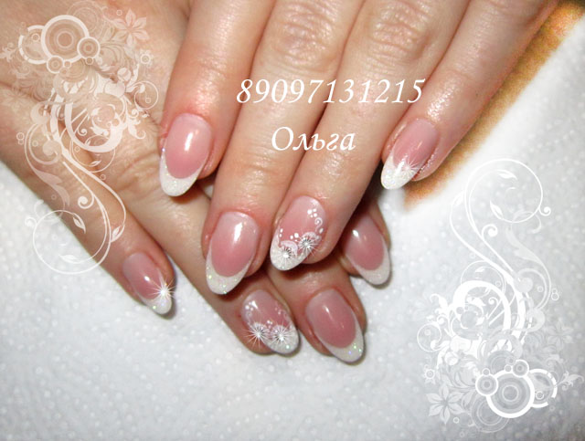 Свадебные ногти овальной формы