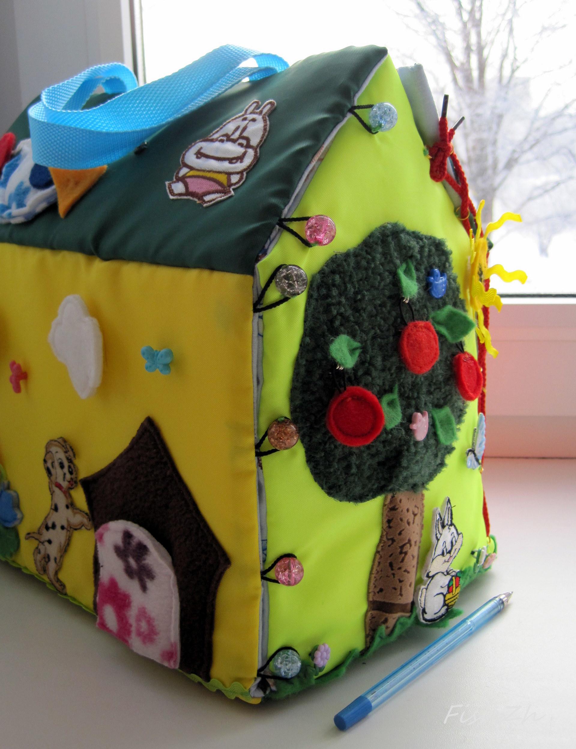 Домик из картона для детей своими руками. Фото 64