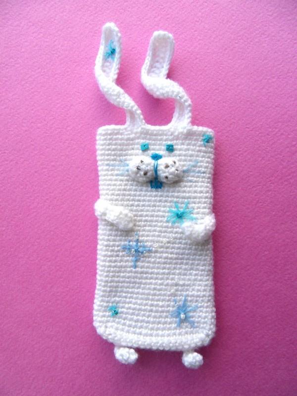 Снежный заяц Вязаные чехлы для