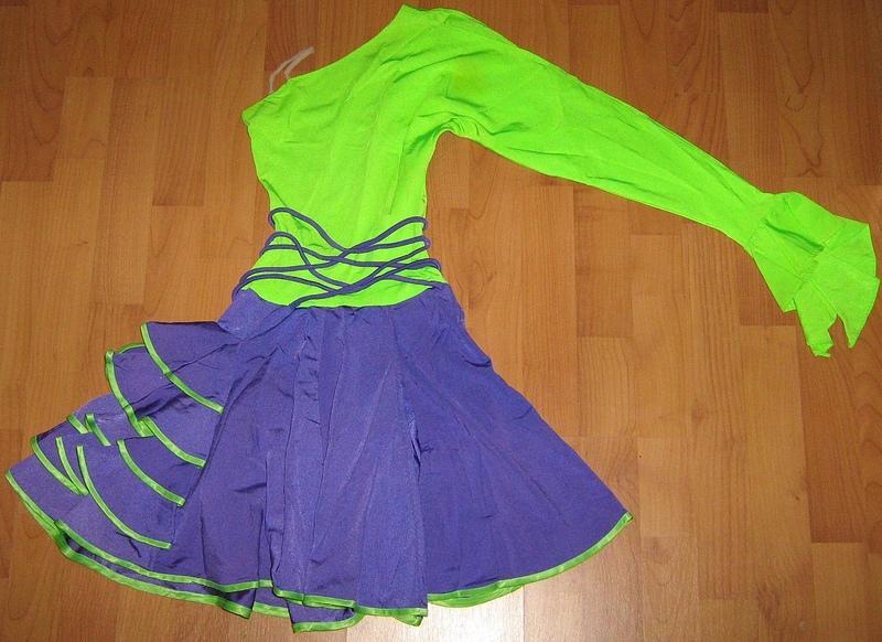 Платье для бальных танцев для девочки своими руками
