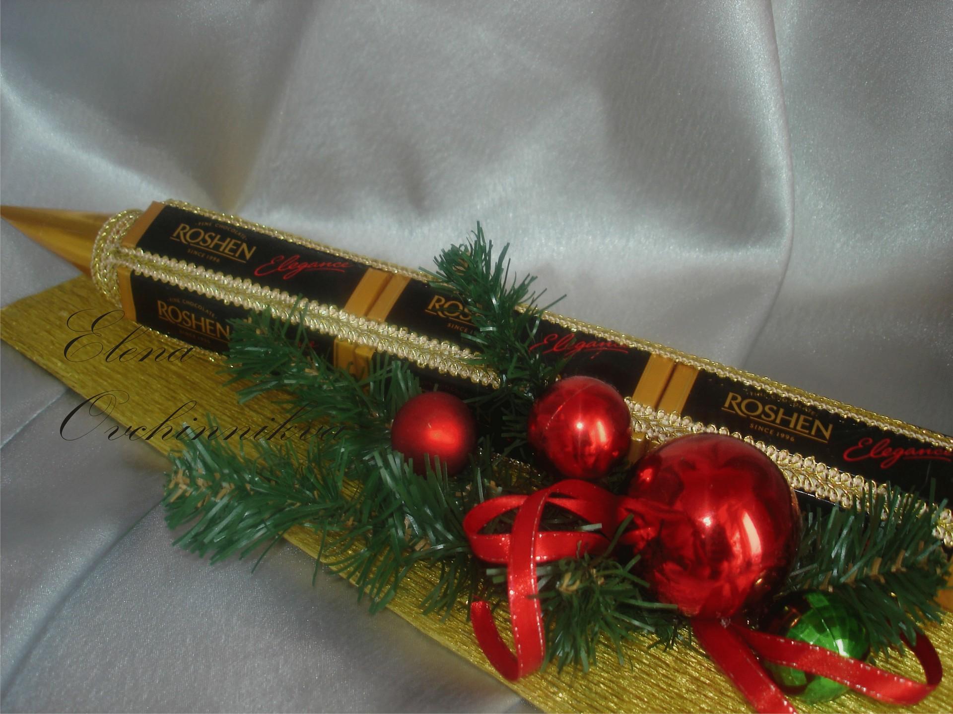 Подарок для начальника из конфет