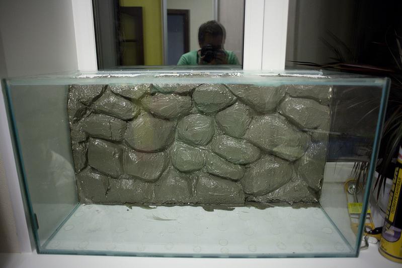 Фон для аквариума из пенопласта своими руками