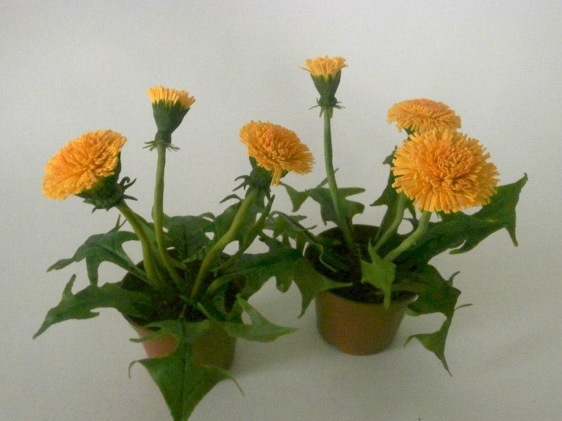 Цветы из крахмала
