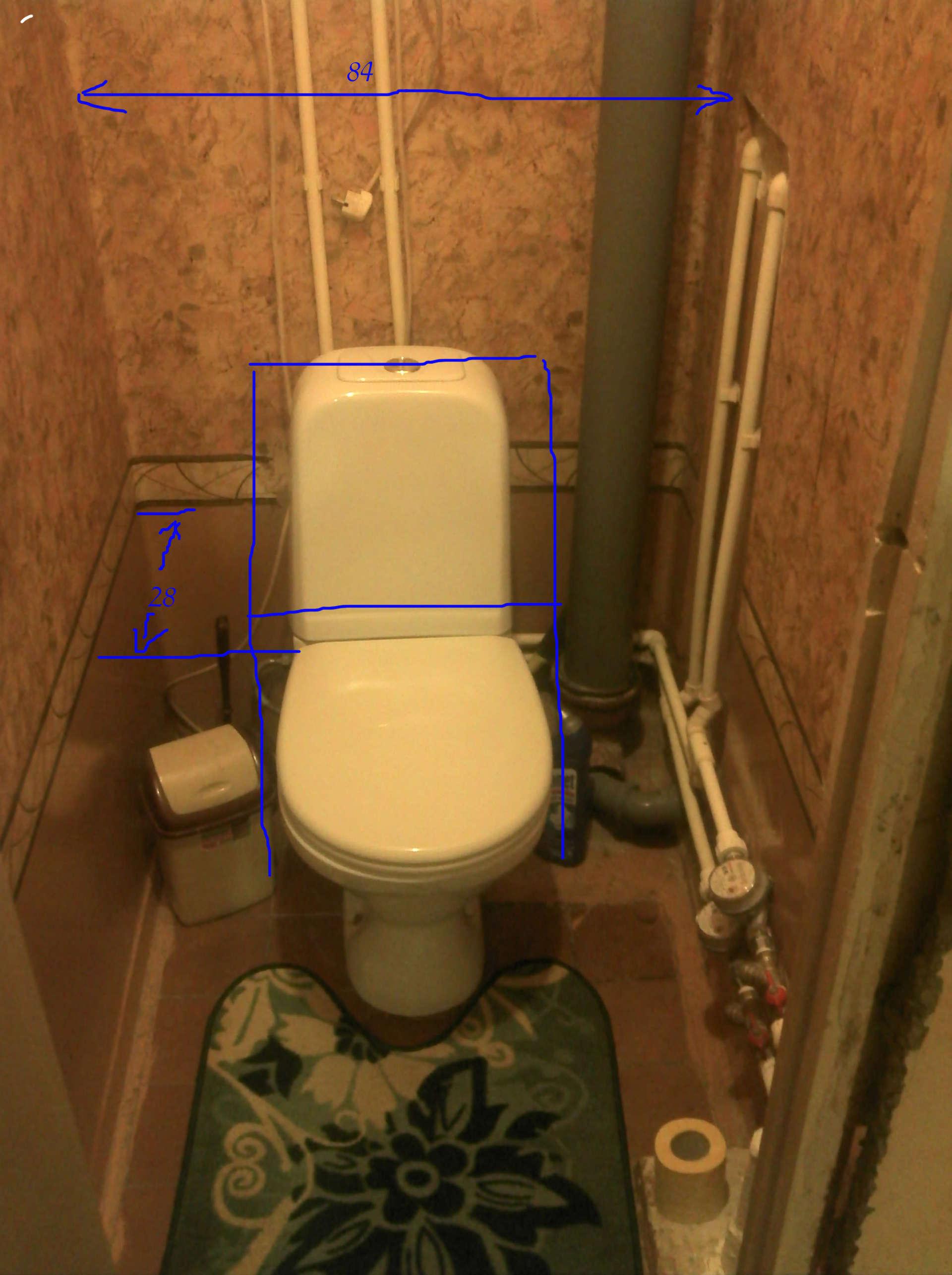 Стояк в туалете дизайн