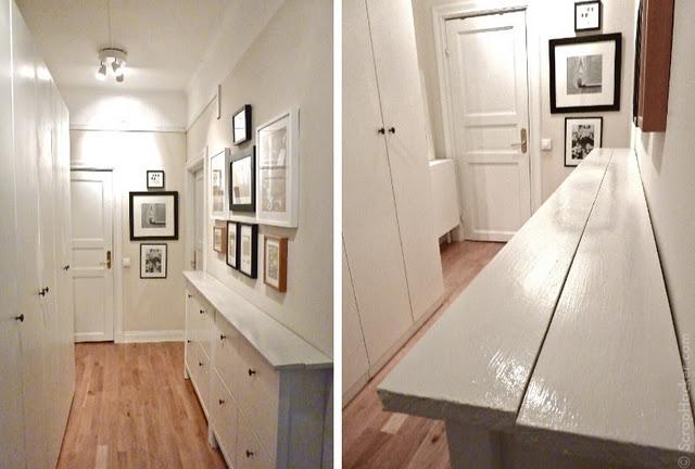 длинный и узкий коридор в квартире дизайн фото