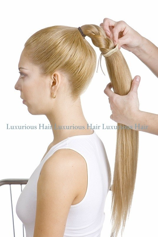 прически на длинные волосы из шиньона хвост