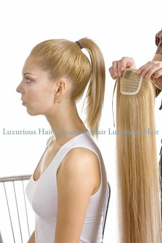 Сшить хвост из волос