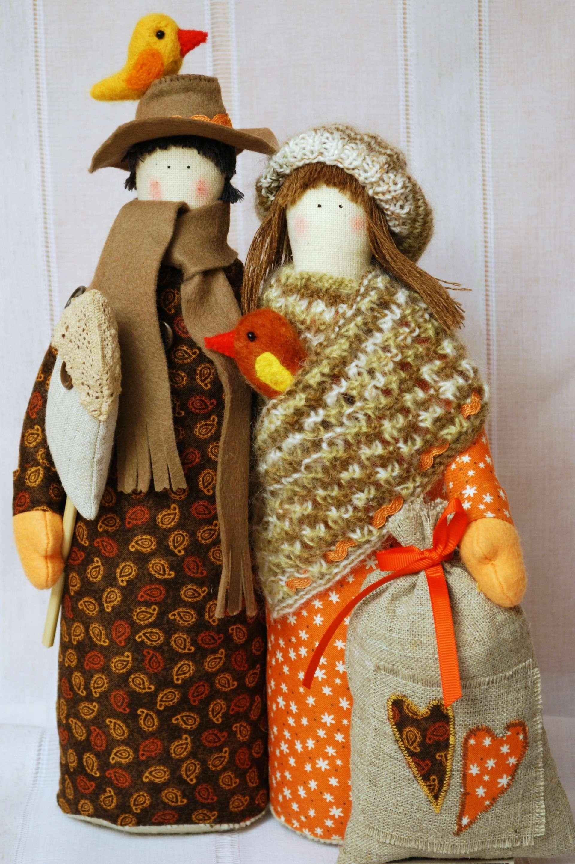 Неразлучники. Народная кукла из ткани, мастер-класс / Умелые 25