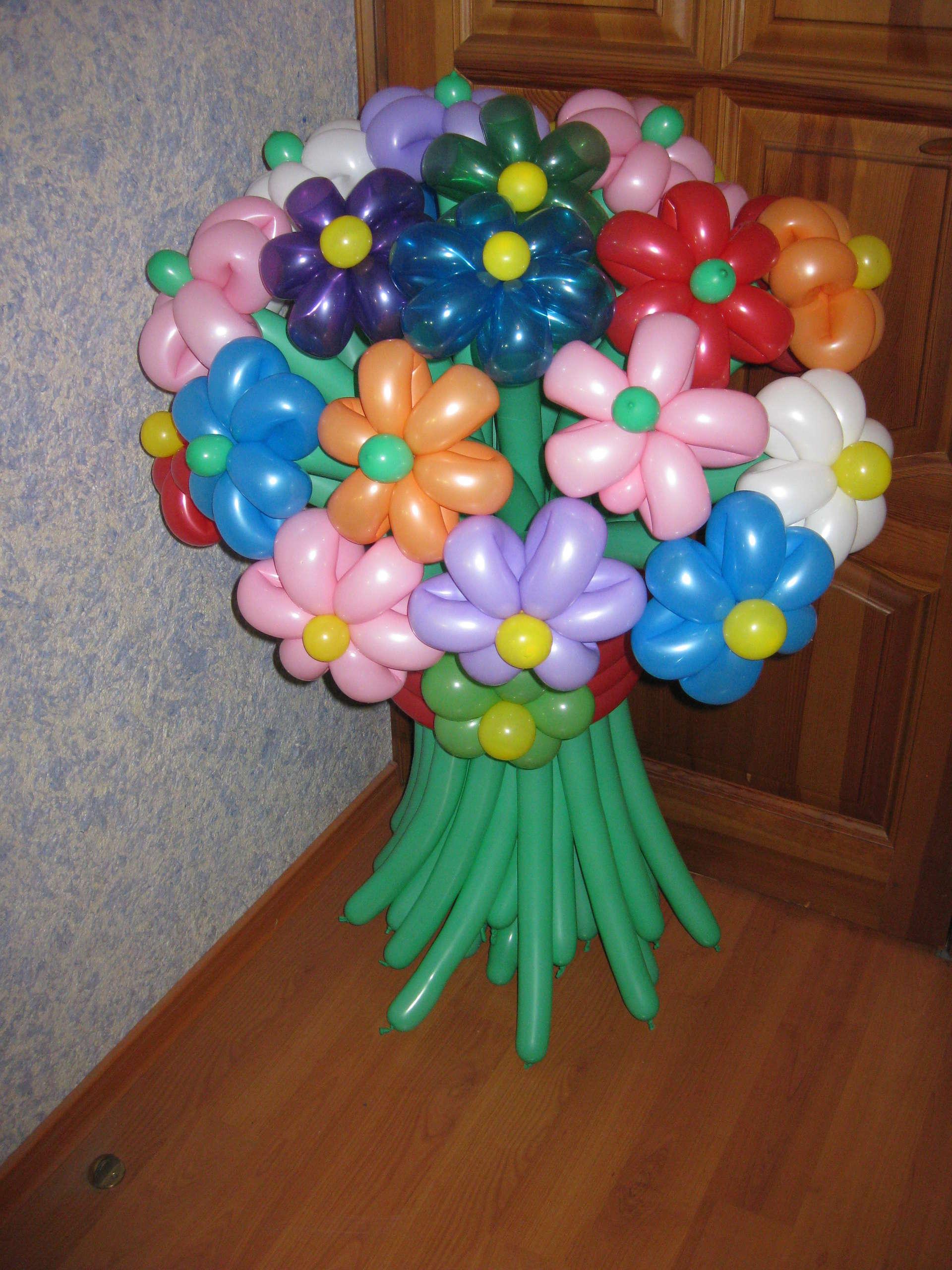 Как своими руками сделать букет из шариков своими руками