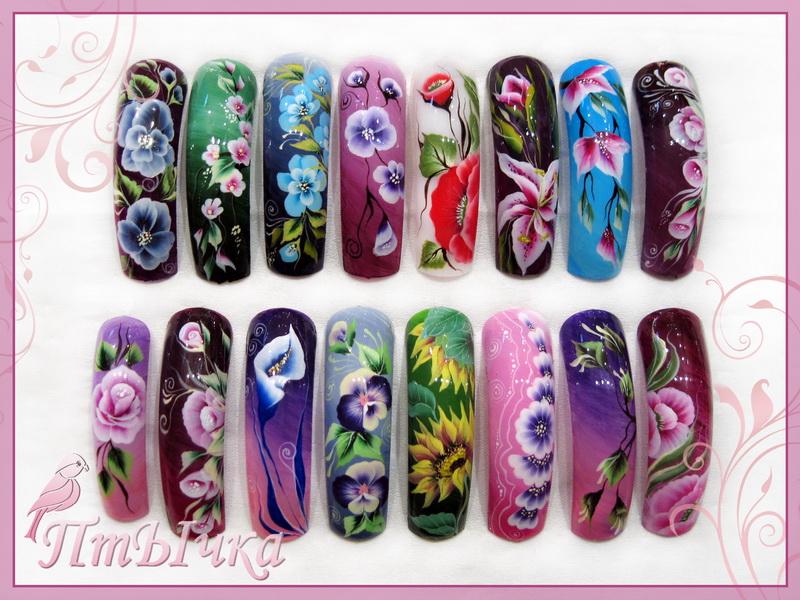 Китайская роспись но ногтях