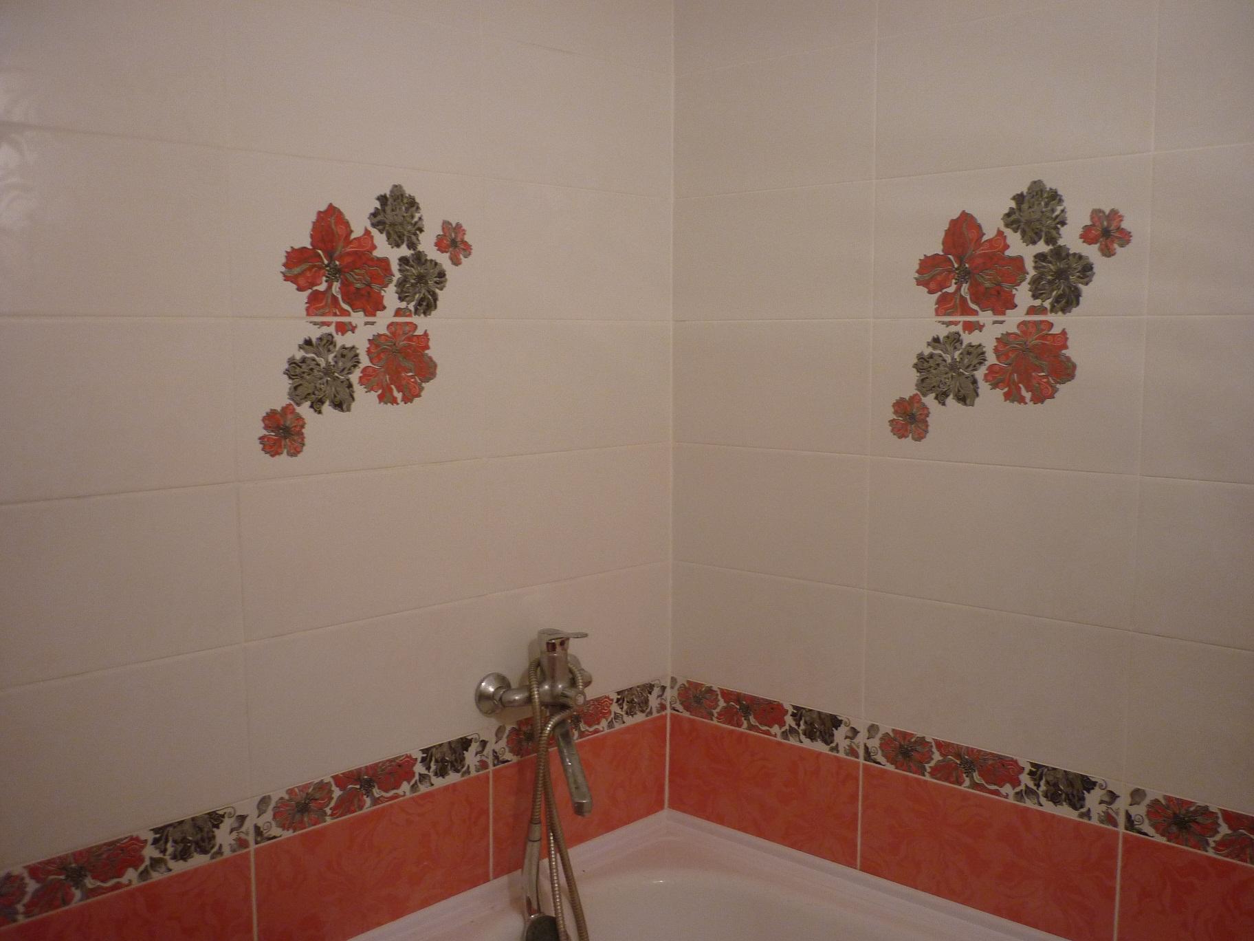 Узоры из кафеля в ванной фото