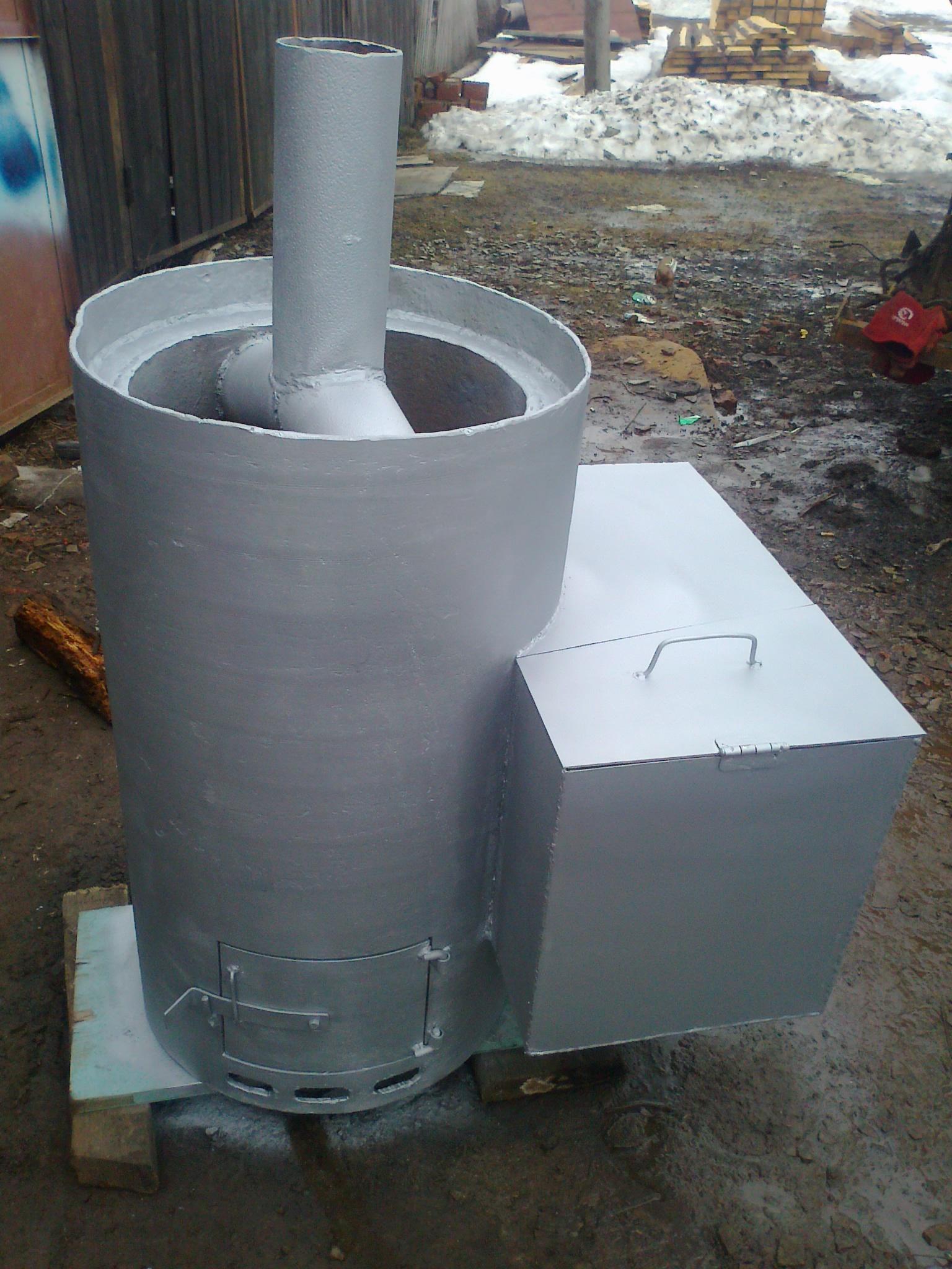 Печь для бани из металла своими руками 38