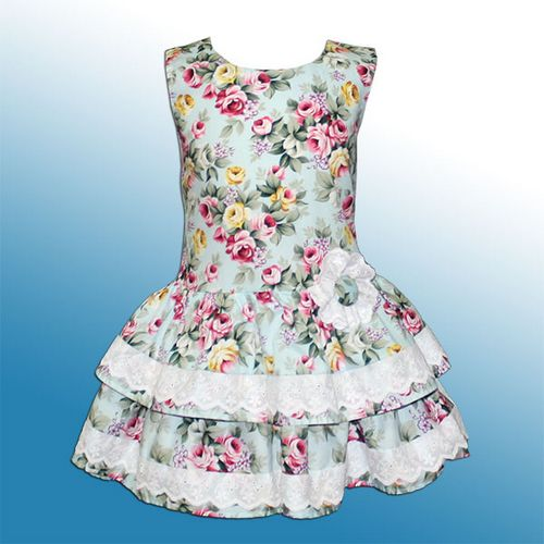 Детское платье из хлопка на лето