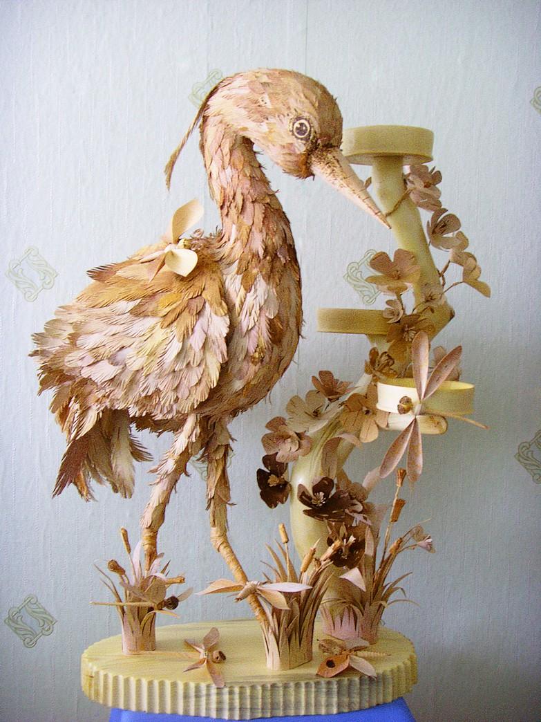 Птица из природного материала своими руками 43