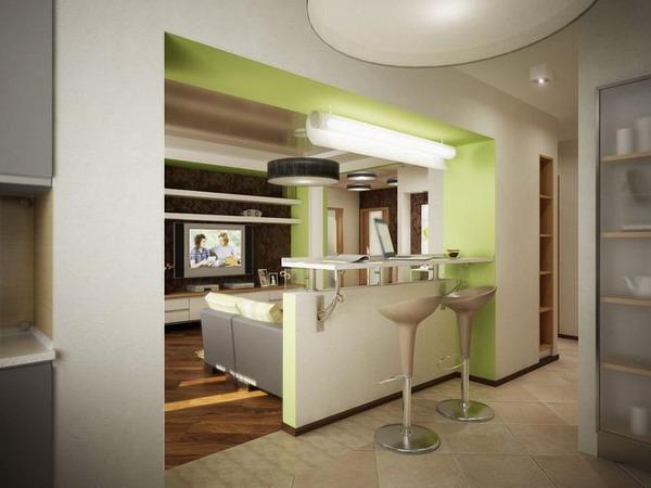 Дизайн проект кухни-прихожей