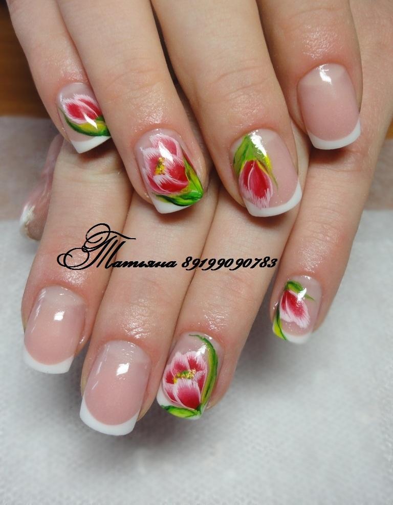 Ногти рисунки на ногтях тюльпаны