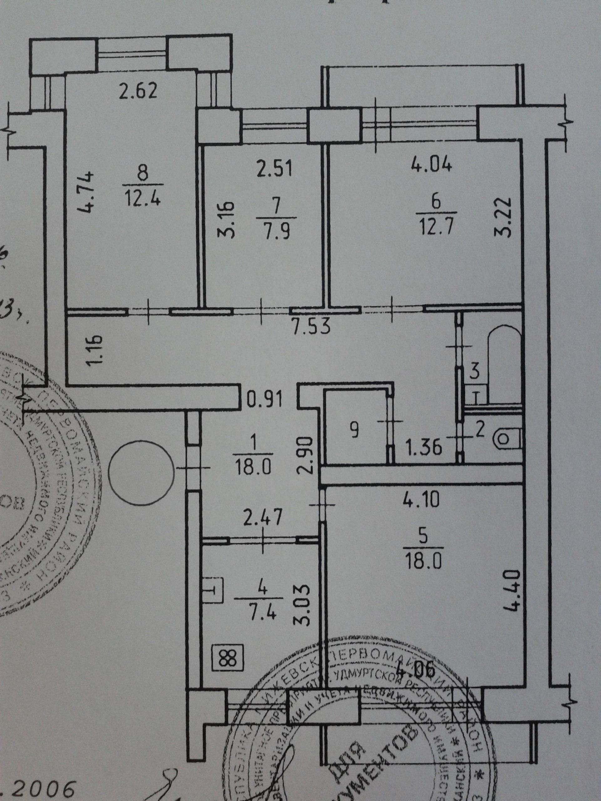 4 к.кв. родниковая 64, 83 кв.м, 2 балкона, фото - марковские.