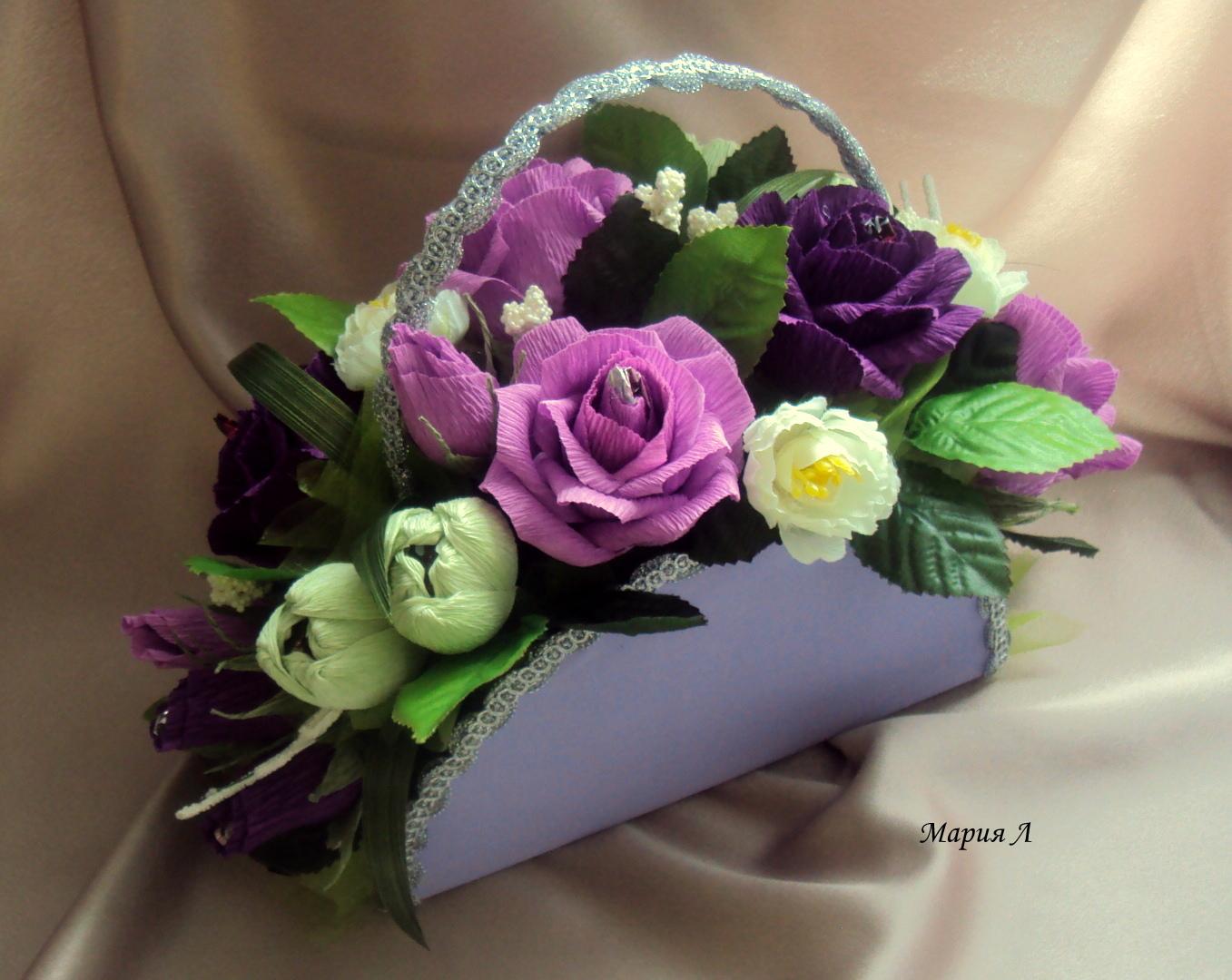 Сумочка букет цветов фото