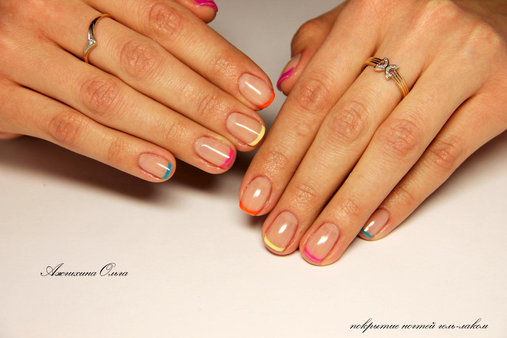 Дизайн коротких ногтей покрытых гелем фото