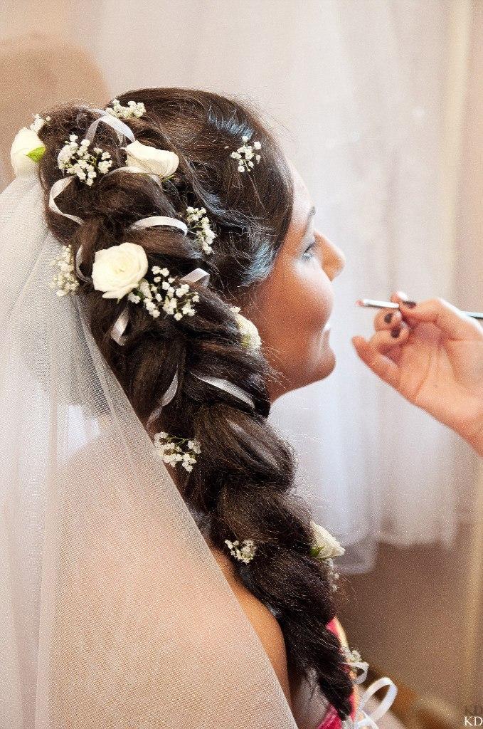 свадебные прически с накладными волосами на трессах