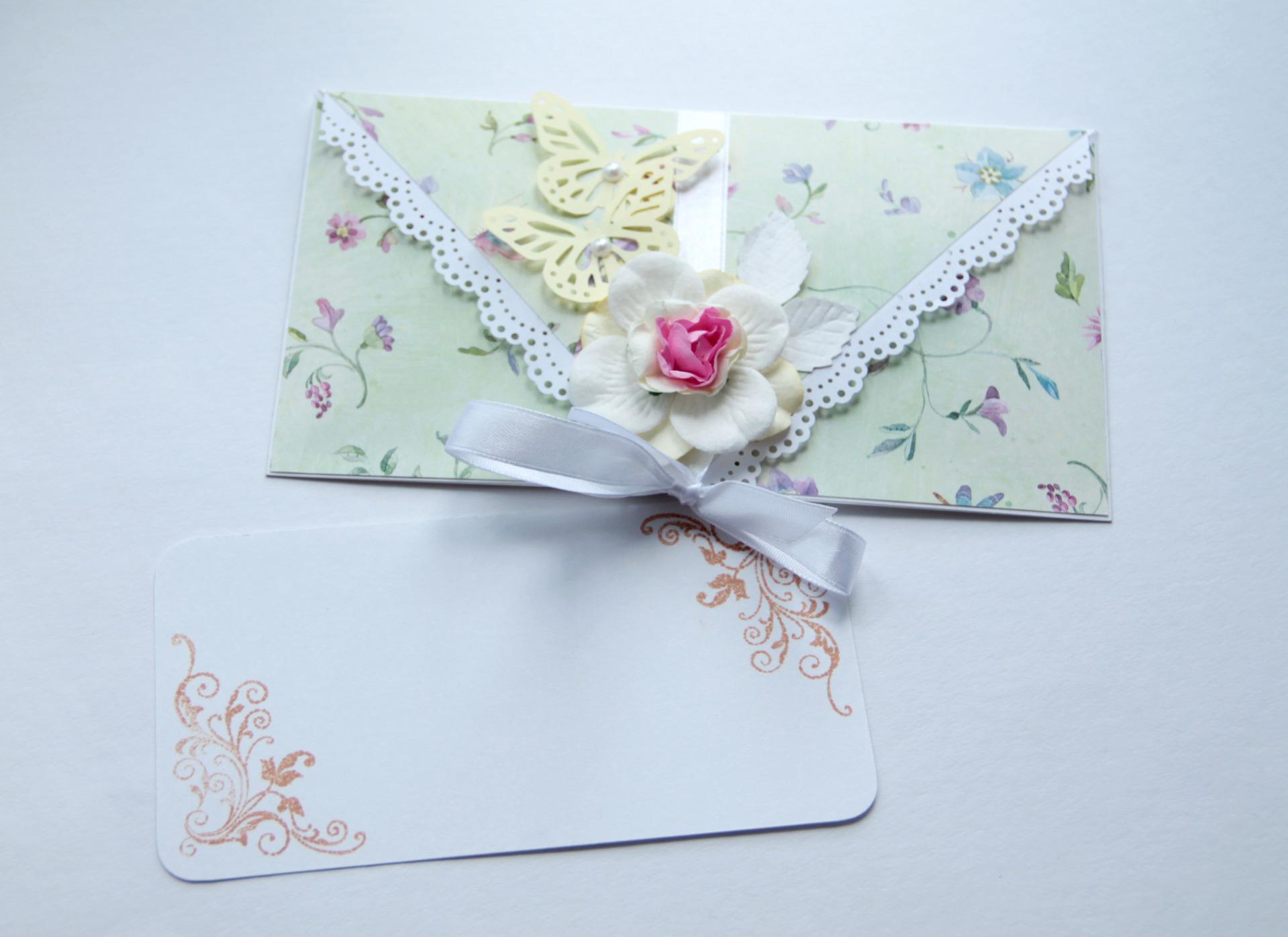 Как сделать подарочный конверт для денег скрапбукинг