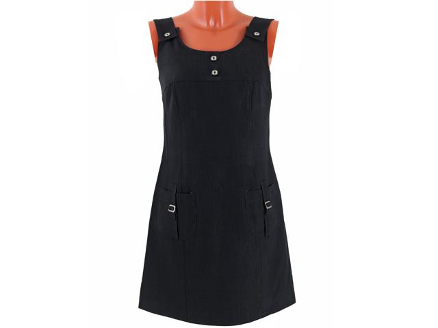 Цена: 286 руб Описание: Сарафан классического черного цвета с широкими бретельками и двумя карманами. .