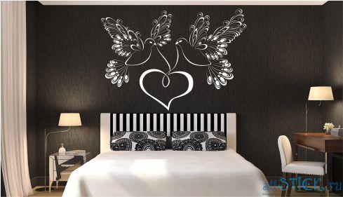 Трафареты на стену в спальню своими руками