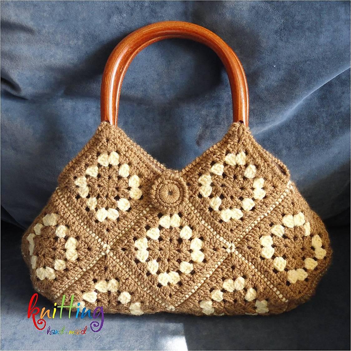 c5906d75aed3 Вязаная сумка спицами в классическом Женские сумки ручной работы. Ярмарка  Мастеров - ручная работа Вязаная сумка