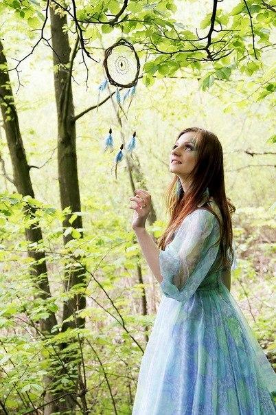 Идея для фото в лесу