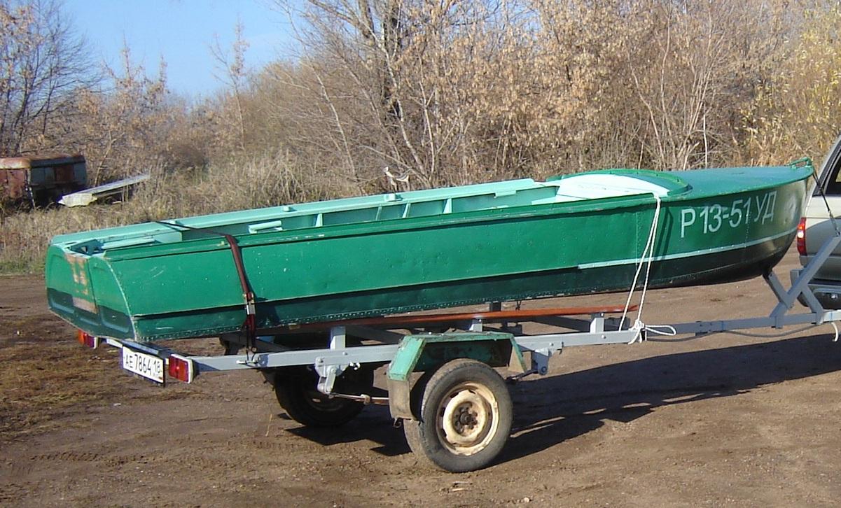 изготовление прицепов на лодку казанка