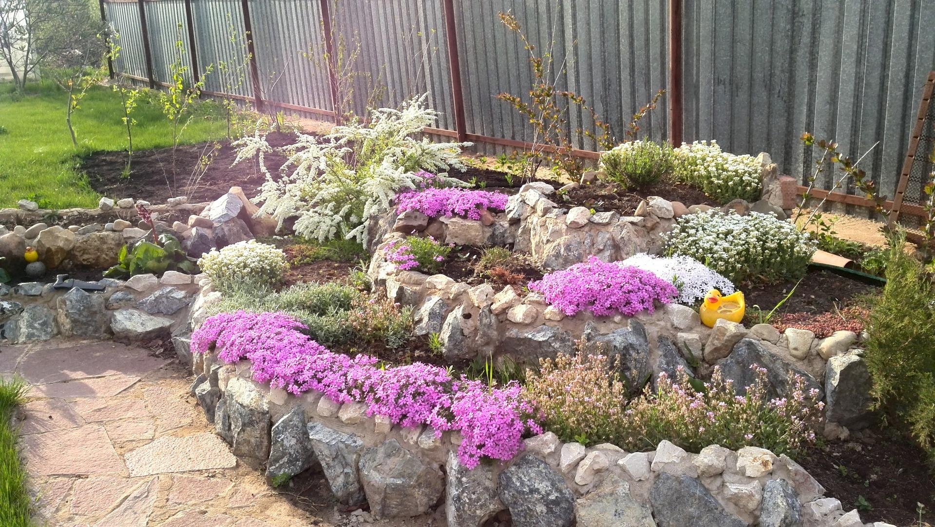 Как сделать альпийскую горку из цветов